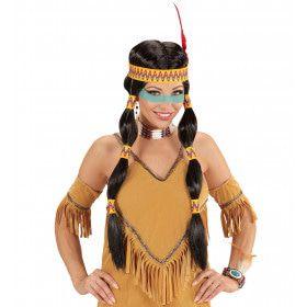 Vrede Pruik, Squaw Indiaan Met Hoofdband