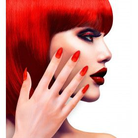 Nagels Vampira Stiletto Rood