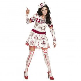 Zombie Izzy Verpleegster Vrouw Kostuum
