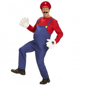 Super Loodgieter Mario Man Kostuum
