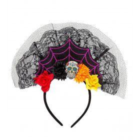 Hoofbedekking Dia De Los Muertos Lola Flores