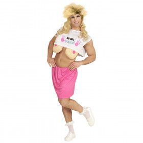 Over The Top 80s Travestiet Man Kostuum