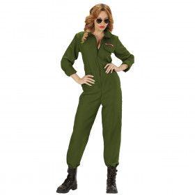 Piloot Gevechtsvliegtuig Overall Vrouw Kostuum