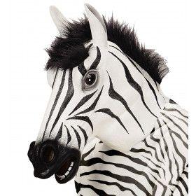 Cartoony Masker Zebra Met Haar