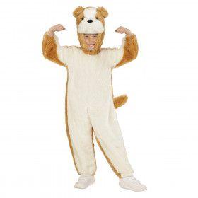 Jumpsuit Met Kap En Masker 98 Centimeter, Brave Hond Kind Kostuum