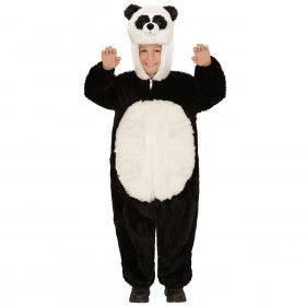 Jumpsuit Met Kap En Masker 98 Centimeter, Pinda Panda Kind Kostuum