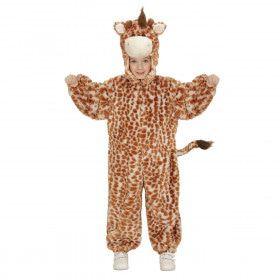 Jumpsuit Met Kap En Masker 98 Centimeter Eindeloos Lange Giraf Kostuum