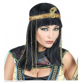 Cleopatra Pruik Met Slangenkop Haarband