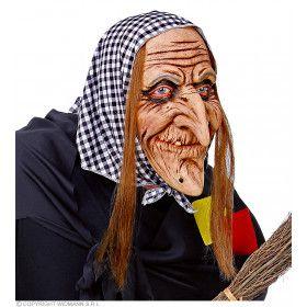 Lelijke Heks Masker Met Hoofddoek