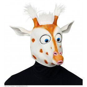 Scheel Kijkende Giraffe Masker Met Pluche Haartjes