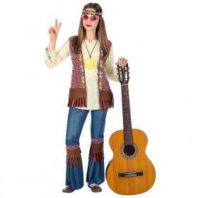 Hippie Eindeloze Zomer Meisje Kostuum