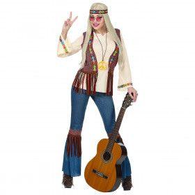 Flower Hippie Vrede Vrouw Kostuum