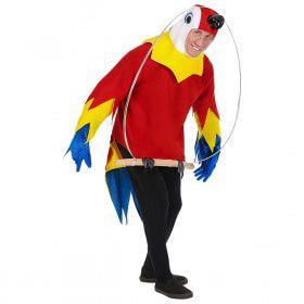 Regenwoud Papegaai Op Een Stokje Kostuum