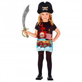 Doodshoofd Piratenkapitein Nanda Meisje Kostuum