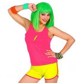Sportieve Hotpants Neon Geel Vrouw