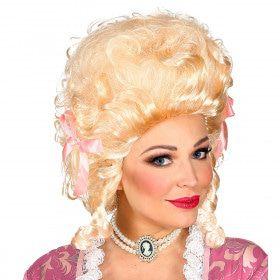 Pruik Koloniale Vrouw Blond