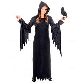 Gotische Voodoo Koningin Duistere Zaken Meisje Kostuum