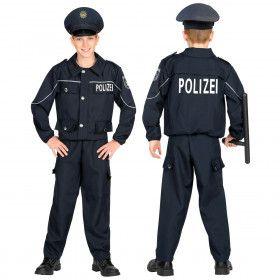Eins Zwei Polizei Straatagent Kind Kostuum