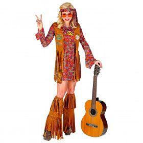 Francien Fraaie Franjes Hippie Jaren 60 Vrouw Kostuum