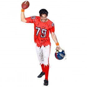 End Zone Zombie American Football Speler Man Kostuum