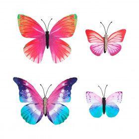 Set Van 4 Tropische Vlinder Haarclips