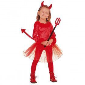 Voor De Duvel Niet Bang Demon Meisje Kostuum