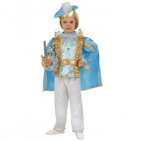 Blauwe Page Prins Frankrijk Jongen Kostuum