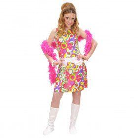 Heftig Hippie Jaren 60 Meisje Kostuum