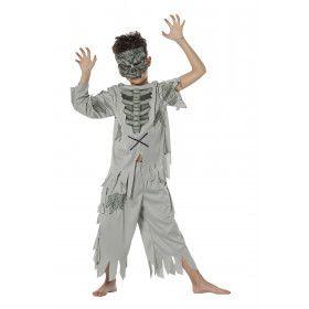 Angstaanjagende Zombie Jongen Kostuum