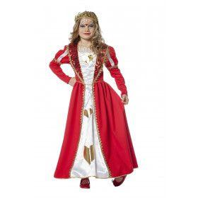 Koningin Hartjes Van Goud Meisje Kostuum