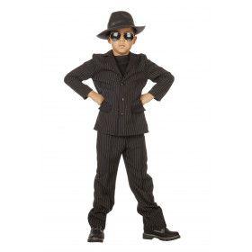 Mega Koele Gangster Jongen Kostuum