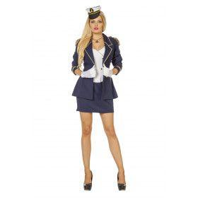 Marine Officier Vrouw Kostuum