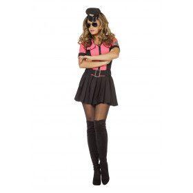 Razende Roze Politie Agente Vrouw Kostuum