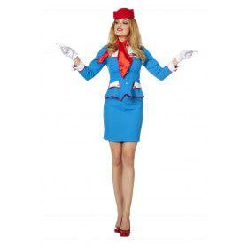 Daar Is De Nooduitgang Stewardess Vrouw Kostuum