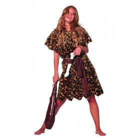 Holbewoonster Paleolithicum Vrouw Kostuum