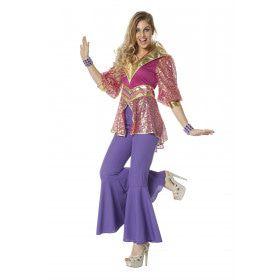 Glamour Disco Queen Vrouw Kostuum