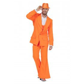 Every Night Fever Oranje Man Kostuum