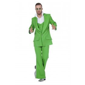 Every Night Fever Groen Man Kostuum