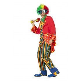 Circus Clown Lach Aan De Kont Man Kostuum