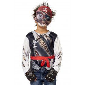 Shirt Afgrijselijke Piraat Met Gruwel Masker Jongen Kostuum