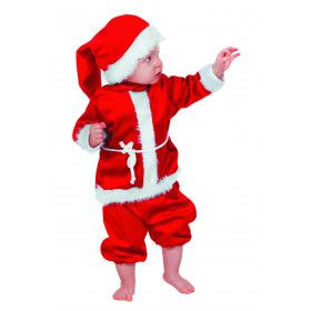 Baby Kerstmannetje Fluweel Kind Kostuum