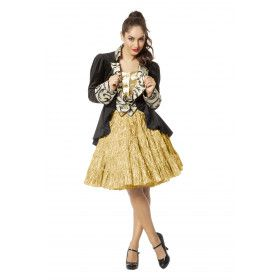Petticoat Swing Luxe Metallic Goud
