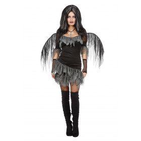 Engel Des Doods Met Vleugels Vrouw Kostuum