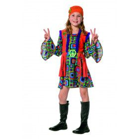 Jaren 60 Hippie Hannah Meisje Kostuum