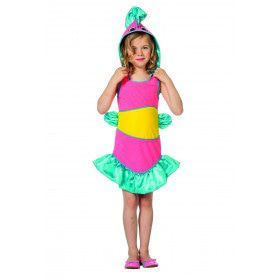 Tropische Koraal Vis Great Barrier Meisje Kostuum