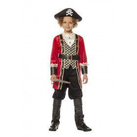 Zwarte Bart Zeerover Piraat Jongen Kostuum