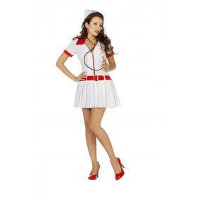 Extreem Hoge Bloeddruk Verpleegster Vrouw Kostuum