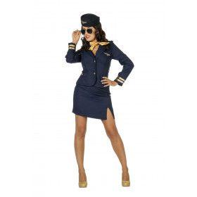 Kom Vlieg Met Mij Stewardess Vrouw Kostuum