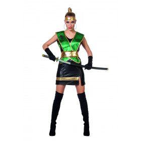 Giftig Groen Ninja Vrouw Kostuum