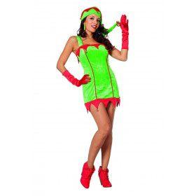 Was Het Altijd Maar Kerstmis Kerstelf Vrouw Kostuum